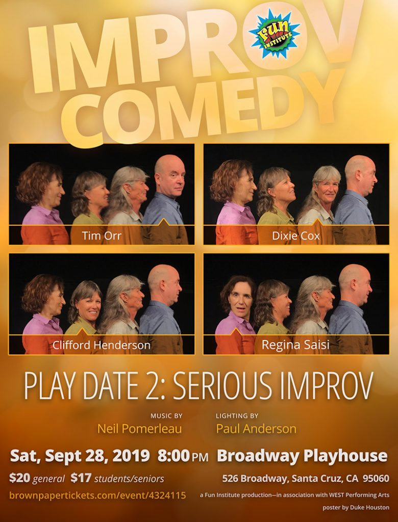 Play Date 2: Serious Improv Poster